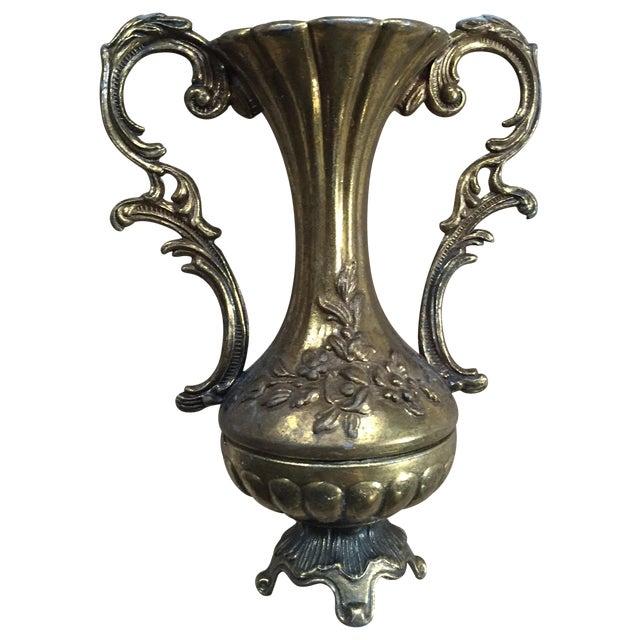 Petite Brass Single Flower Vase - Image 1 of 7
