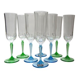 Crystal Champagne Flutes - Set of 8