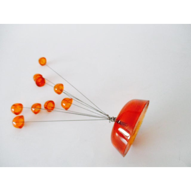 Orange Lucite Abstract Sculptural Kinetic Sculpture - Image 4 of 10