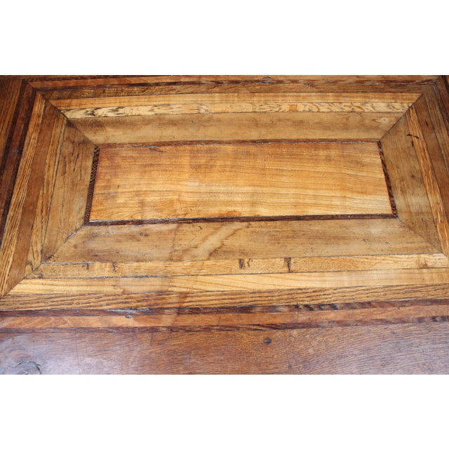1920s Cherry Mahogany & Oak Coffee Table - Image 6 of 7