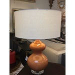 Image of New Persimmon Colored Ceramic Gourd Lamp