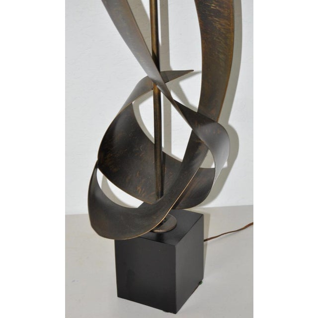C.1960s Harry Balmer Sculptural Steel & Bronze Lamp - Image 6 of 9