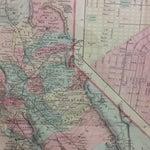 Image of Antique 1871 California Map