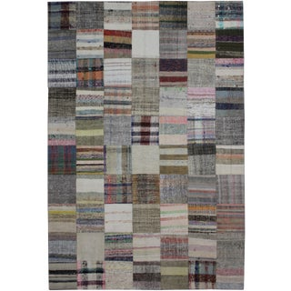 """Hand Knotted Antique Patchwork Kilim - 11'4"""" x 7'4"""""""