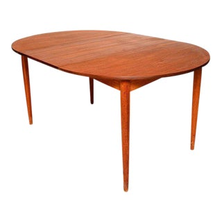 Mid-Century Danish Modern Teak Round Oval Dining Table