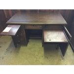 Image of Antique Distressed Wooden Desk
