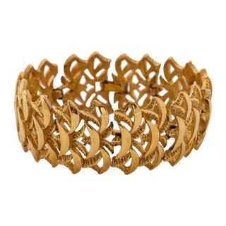 Trifari Goldtone Link Bracelet