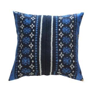 Indigo Handwoven Ikat Pillow From Bali