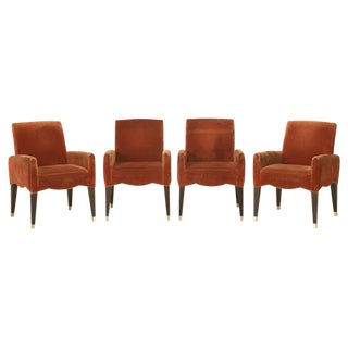 Olivier Gagnere's Cafe Marly Set of Four Armchairs
