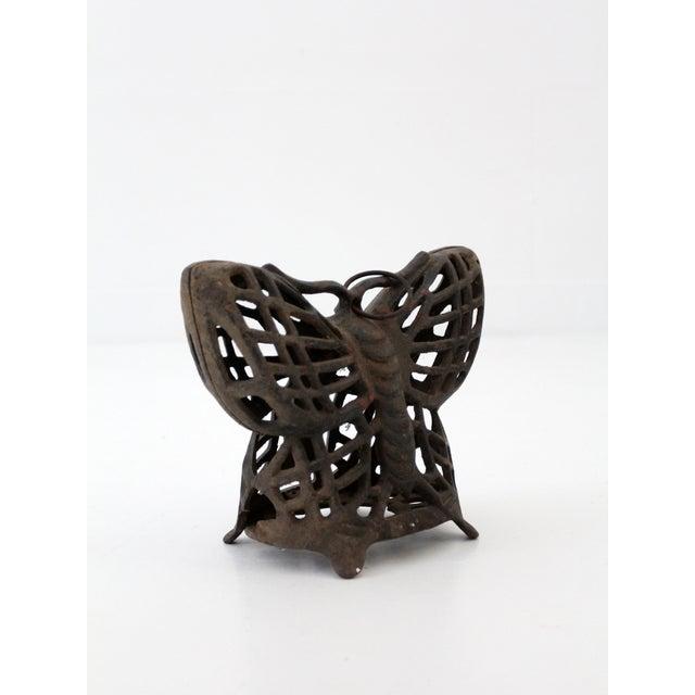 Image of Mid-Century Iron Butterfly Lantern