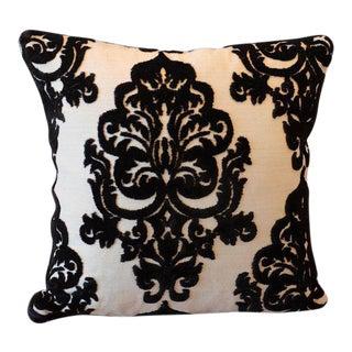 Italian Cut Velvet and Maharam Mohair Pillow Cover