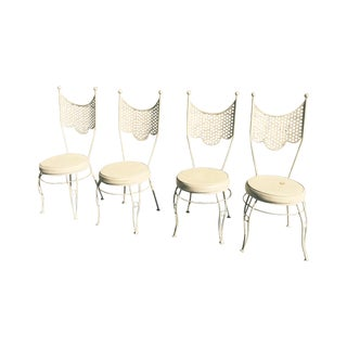 Hollywood Regency Iron Garden Chairs - Set of 4