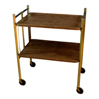 Mid-Century Modern Fold-Up Bar Cart