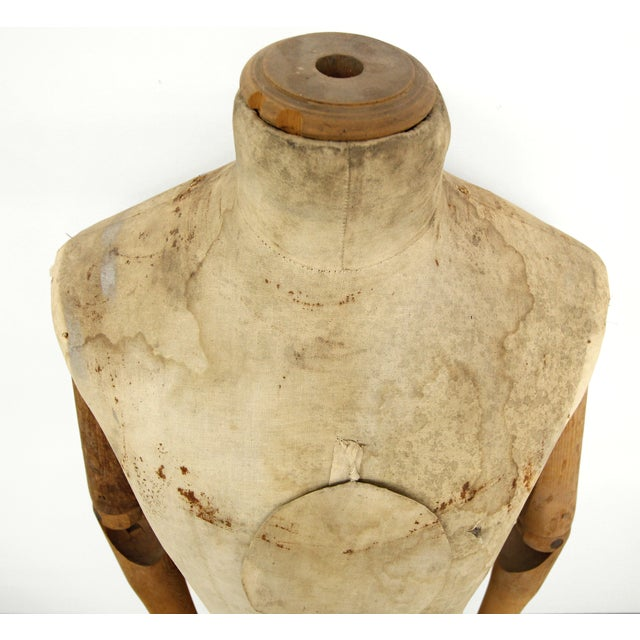 Image of Early 1900's Antique Wooden Full Body Mannequin