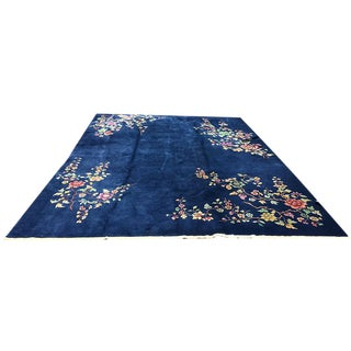 Blue Art Deco Chinese Rug - 8′11″ × 11′5″