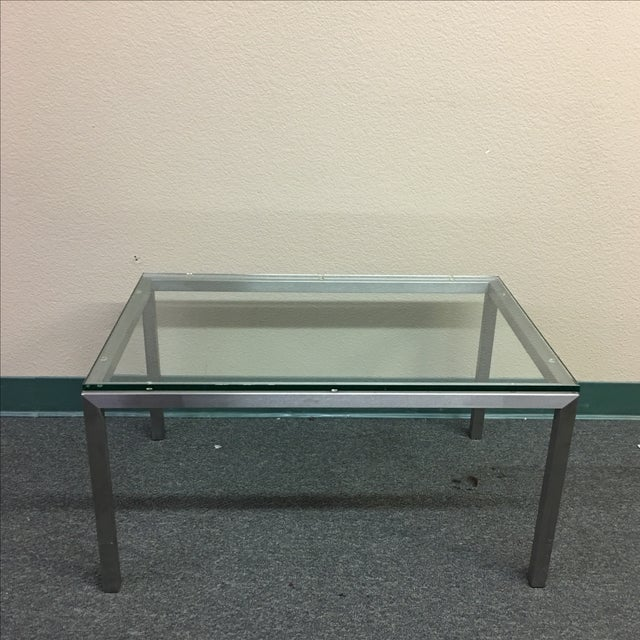 Room Board Stainless Steel Glass Cocktail Table Chairish