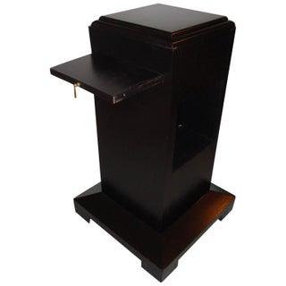 Art Deco Ebonized Pedestal Table