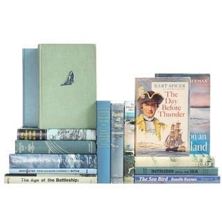 Aqua Nautical Bookshelf Mix - Set of 15