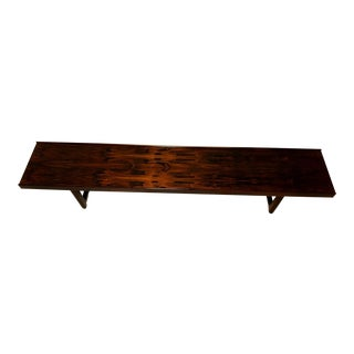Torbjorn Afdal Mid-Century Rosewood Bench