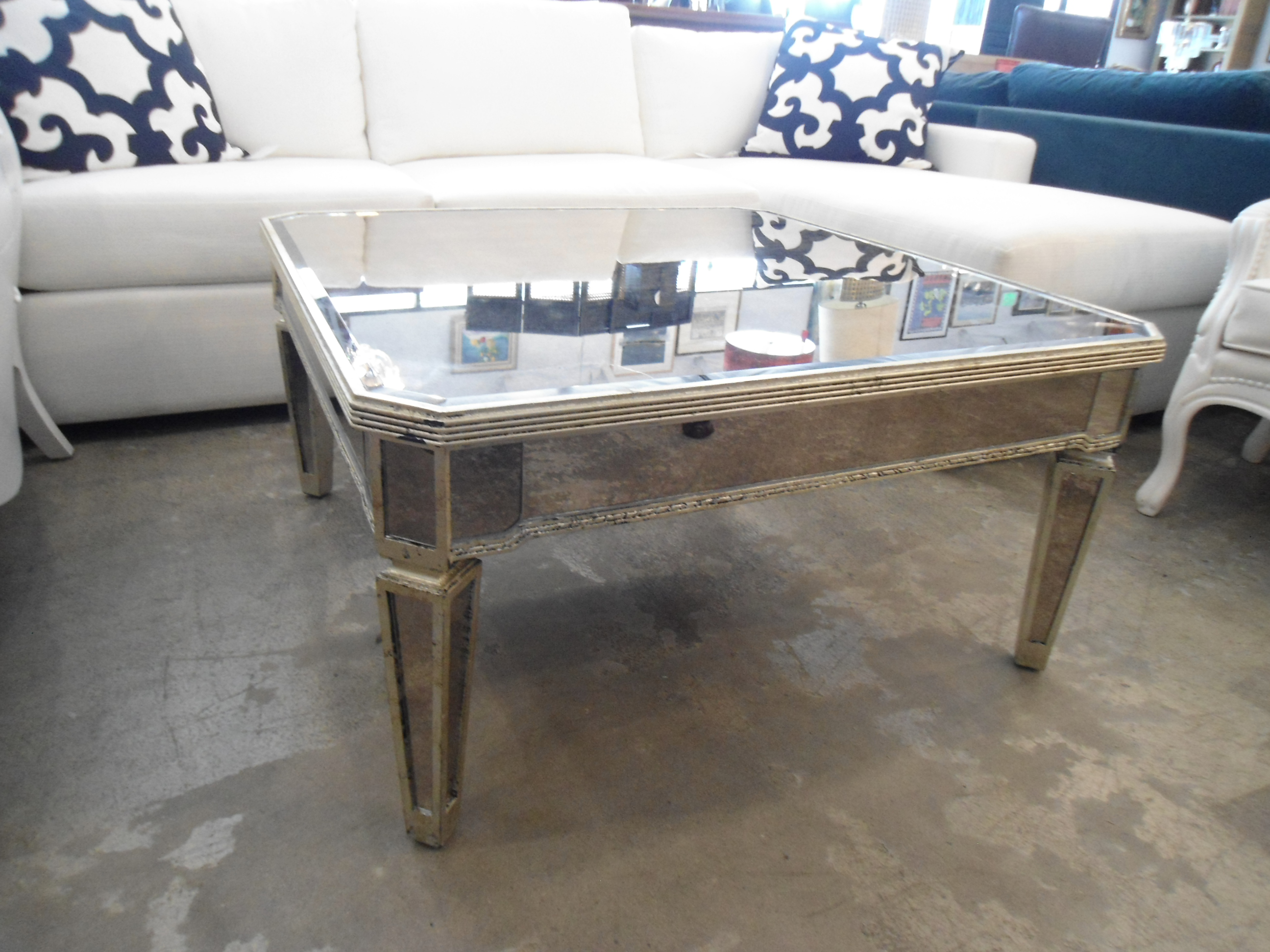 Horchow Amelie Mirrored Coffee Table   Image 3 Of 7