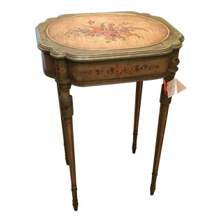 Antique French Hand Painted Poudreuse Dressing Table