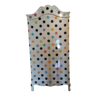 Contemporary Polka Dot Armoire