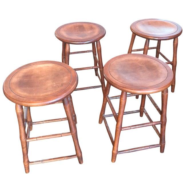 Nichols and Stone Bar Stools - Set of 4 - Image 1 of 3