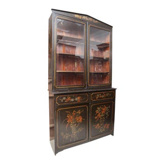1900s Antique English Hand-Painted Bookcase