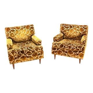 Pair of Mid-Century Modern Lounge Club Chairs, circa 1950s