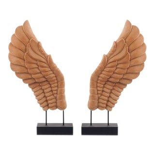 Wooden Décor Wings - A Pair