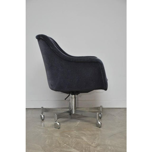 Ward Bennett Desk Chair in Mohair - Image 5 of 7