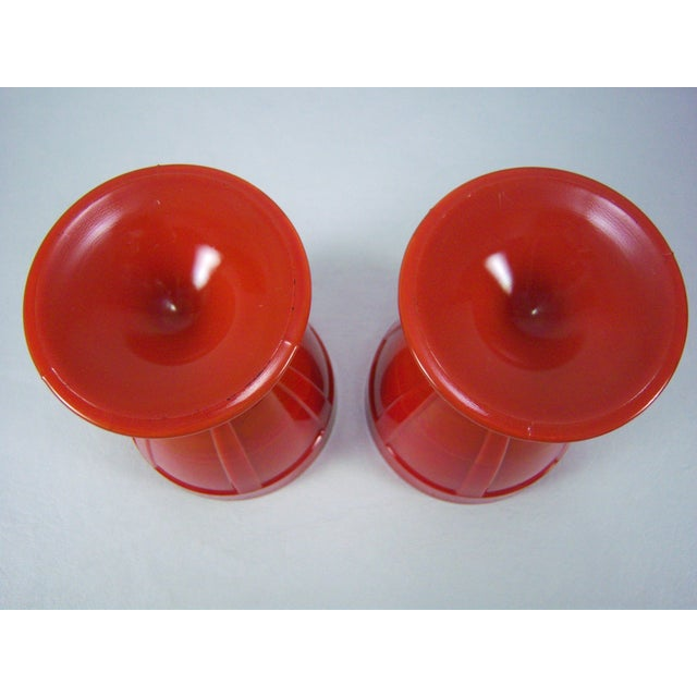 1920s Red Art Glass Covered Candy Containers - Image 7 of 8