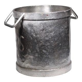 Early 20th Century Brushed Chrome Bakery Pot
