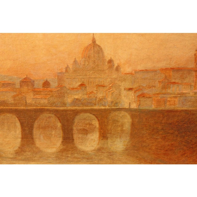 Image of View of Rome including Saint Peter's Basilica and Ponte Castel Sant'Angelo