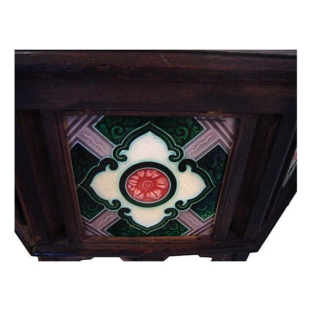 19th-Century Indian Tile Side Table - Image 2 of 4