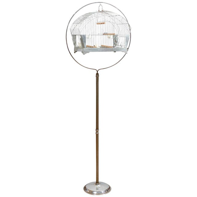 Hendryx American Art Deco Bird Cage on Stand - Image 1 of 5