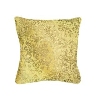 Yellow and Gold Venetian Velvet Pillow