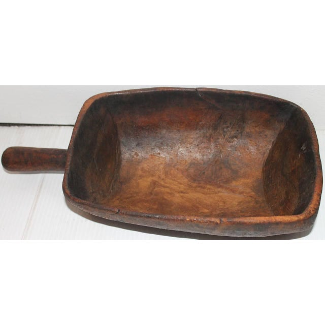 19th Century Original Old Surface Hand-Carved Scoop - Image 3 of 10