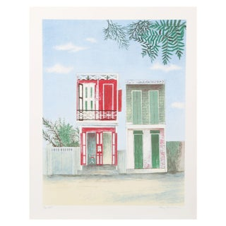 Mary Faulconer - Haitian Barback Shop Lithograph