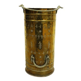 Vintage Stamped Brass Umbrella Stand