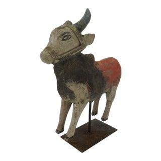 Vintage Indian Cow Figurine