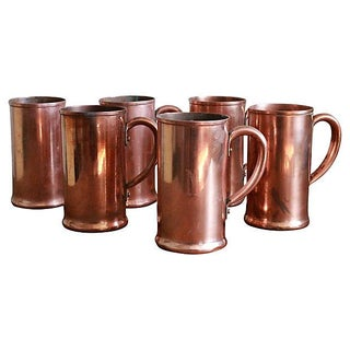 Monogramed Brewery Copper Mugs - Set of 6