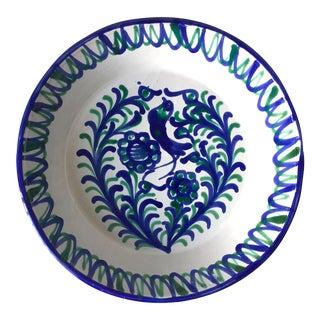 "Spanish Grenadine Glazed Terra Cotta Bowl-13"""