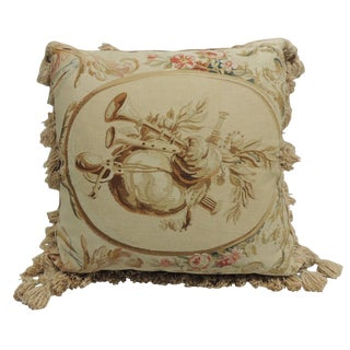 Vintage Tapestry Pillow with Tassels