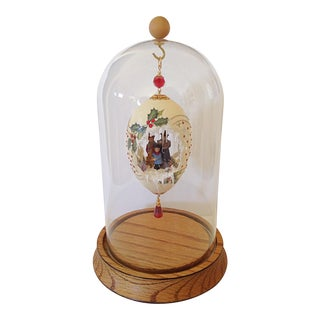 Christmas Egg Ornament in Display Dome