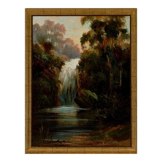 19th Century Painting of Waterfall