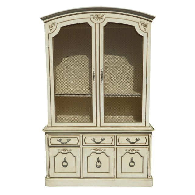 Thomasville French Country Carved Off-White Hutch - Image 1 of 11
