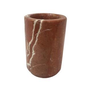 Burnt Orange Marble Vase
