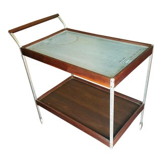 Serving Bar Cart with Electric Warming Tray