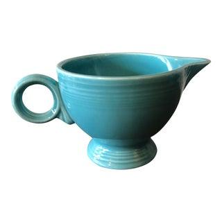 Vintage Turquoise Fiestaware Creamer